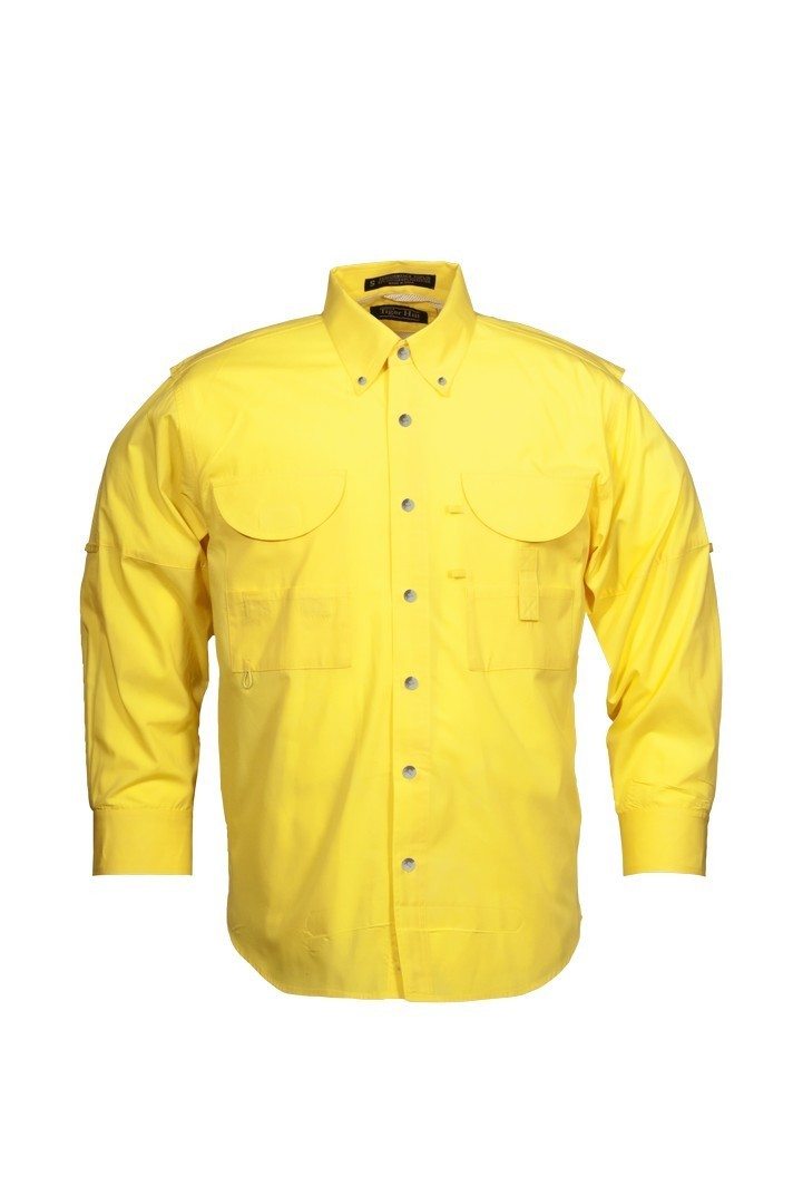 Tiger Hill Men's Fishing Shirt Long Sleeves Yellow