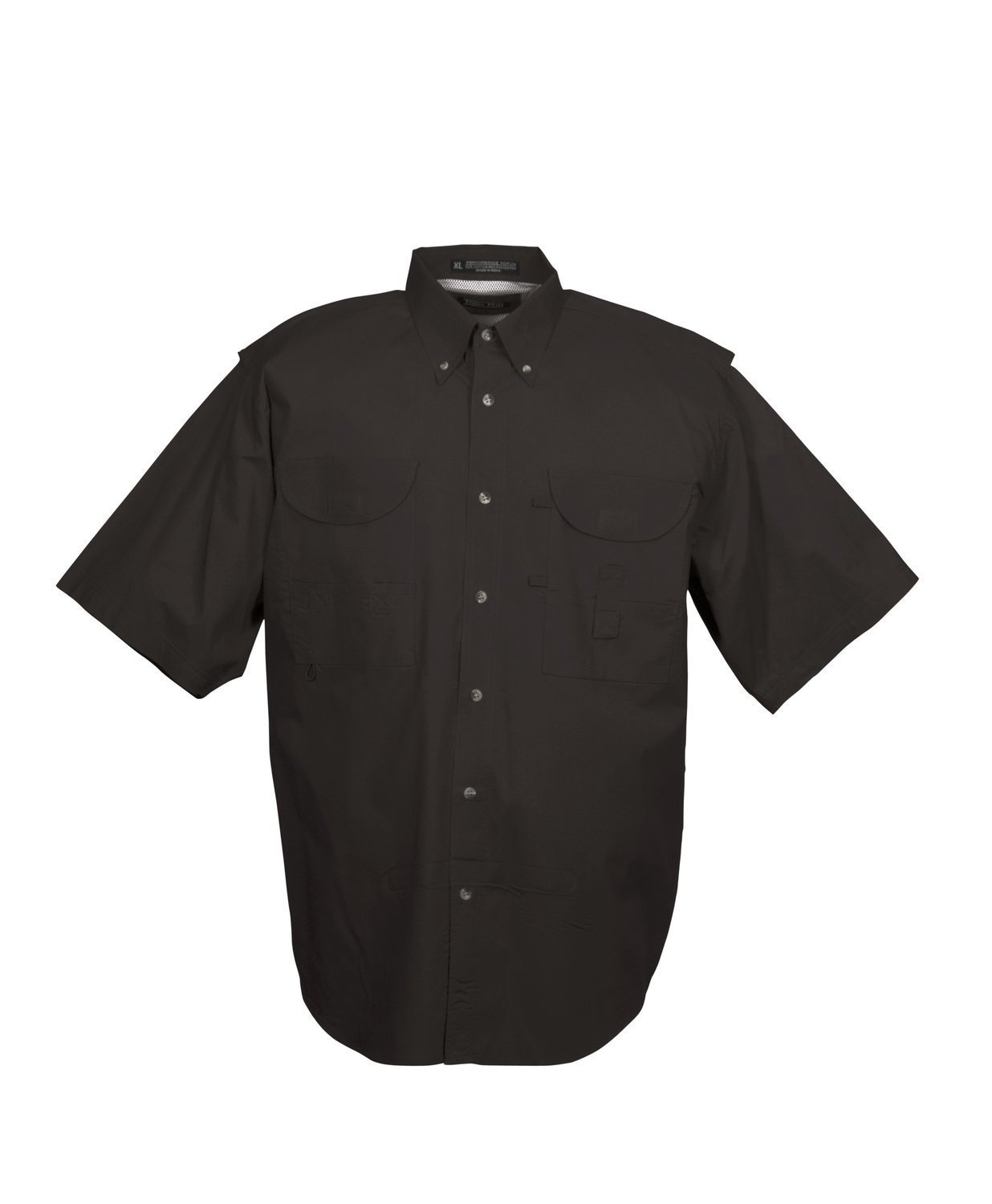 Tiger Hill Men's Fishing Shirt Short Sleeves Black