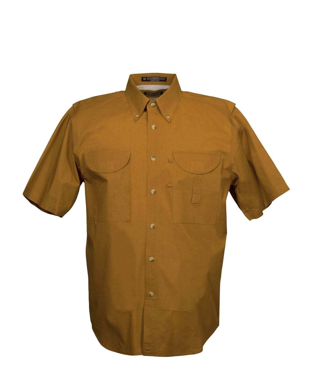 Tiger Hill Men's Fishing Shirt Short Sleeves Burnt Orange