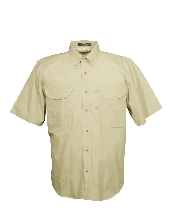 Tiger Hill Men's Fishing Shirt Short Sleeves Sand
