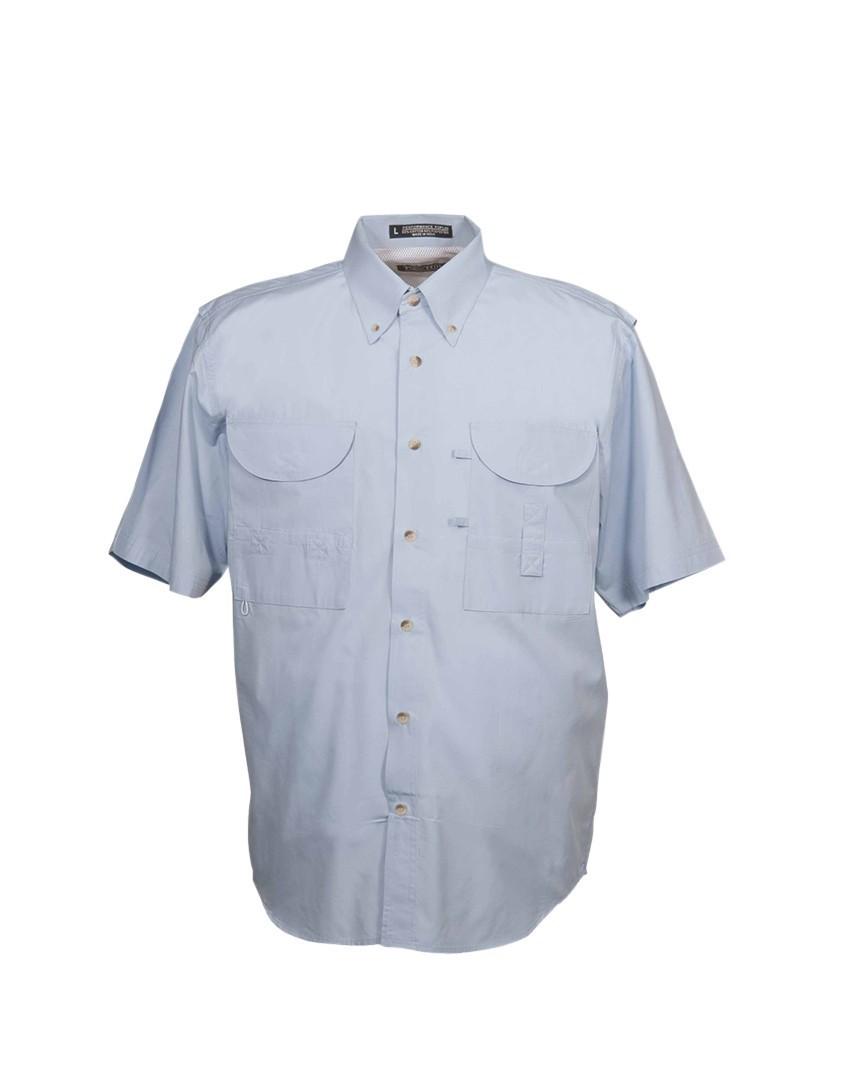 Tiger Hill Men's Fishing Shirt Short Sleeves Sky Blue
