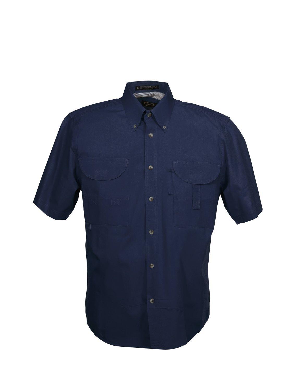 Tiger Hill Men's Fishing Shirt Short Sleeves Steel Blue