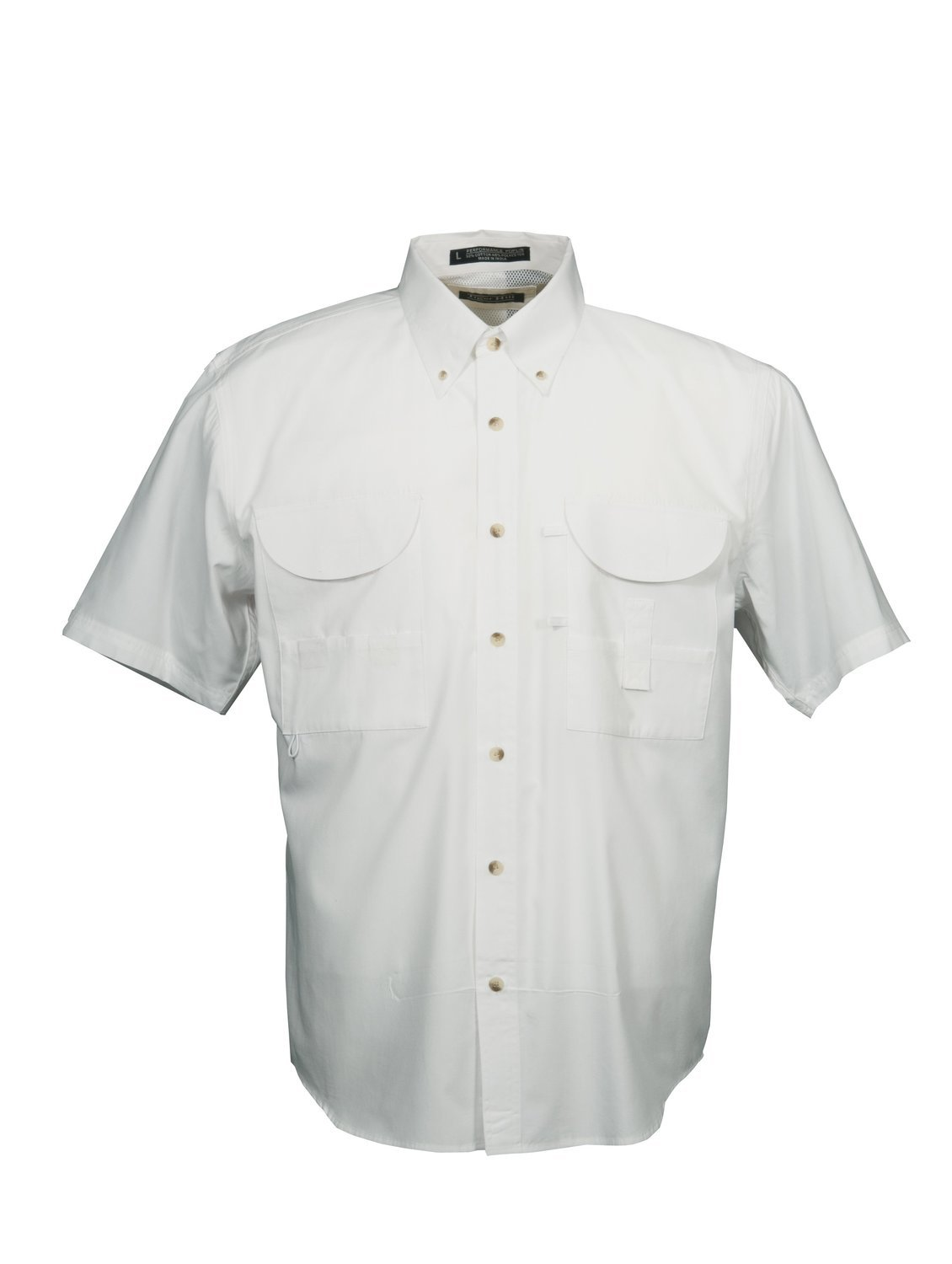 Tiger Hill Men's Fishing Shirt Short Sleeves White