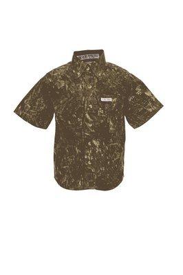 Tiger Hill Childrens Camo Fishing Shirt Short Sleeves