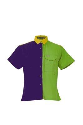 Mardi Gras Ladies Fishing Shirt Short Sleeves