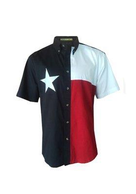 Tiger Hill Texas Flag Short Sleeve Twill Shirt