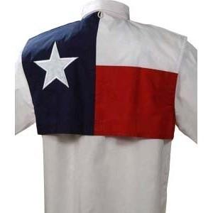 Texas Flag Short Sleeve Fishing Shirt