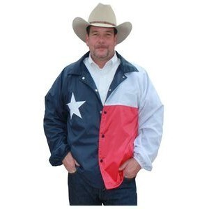 Texas Flag Windbreaker Jacket