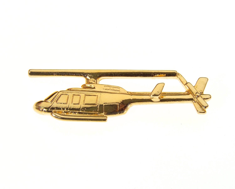 Bell 206 Longranger Gold Plated Tie / Lapel Pin
