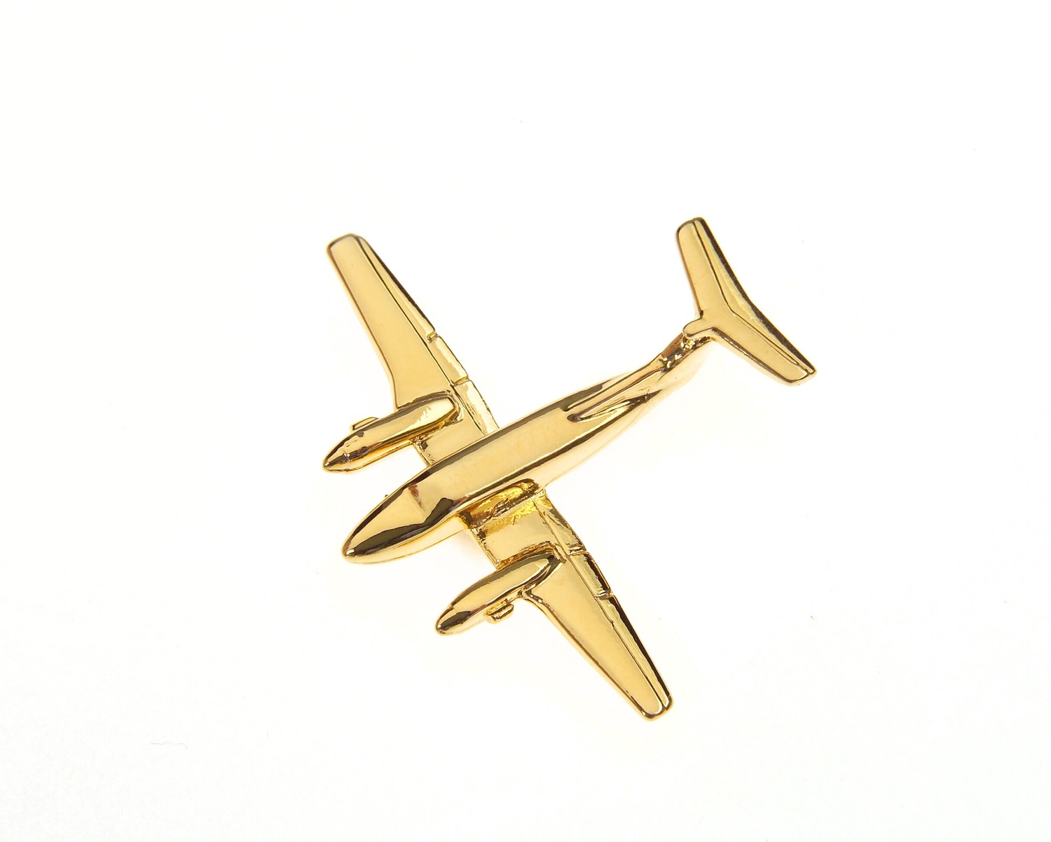 Beech 200 Gold Plated Tie / Lapel Pin