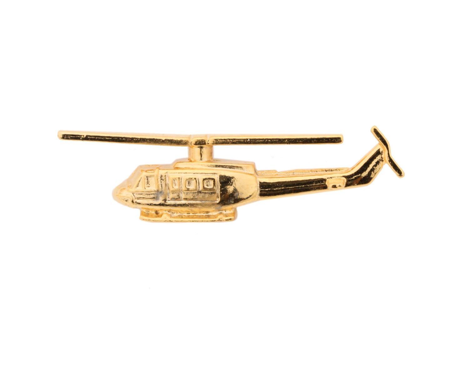 Bell 212 Gold Plated Tie / Lapel Pin