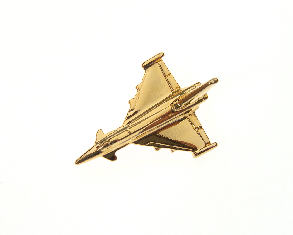 Eurofighter Typhoon Gold Plated Tie / Lapel Pin