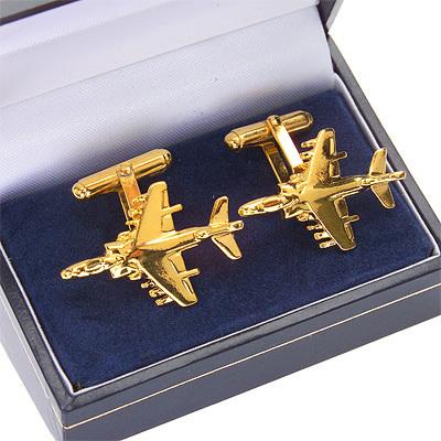 Harrier GR7 / AV8B Cufflinks Gold Plated