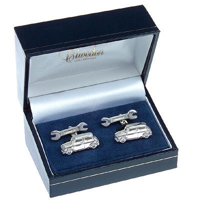 Mini Cufflinks Solid Silver