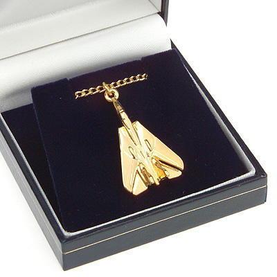 F14 Tomcat Pendant Gold Plated