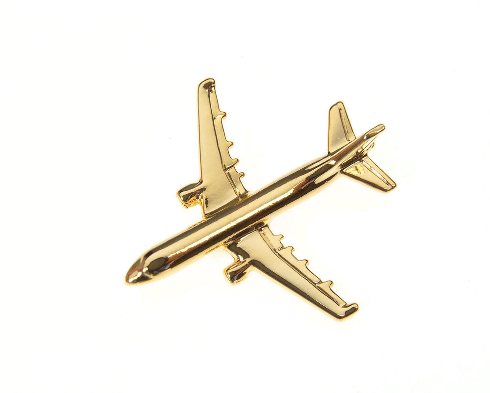 Airbus A321 Gold Plated Tie / Lapel Pin