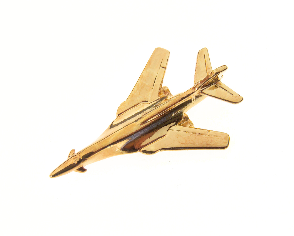 B1B Lancer Gold Plated Tie / Lapel Pin
