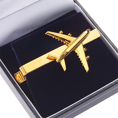 Airbus A380 Tiebar / Clip Gold Plated