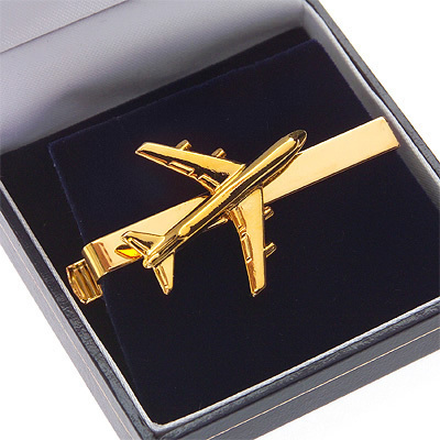 Boeing 747 'Jumbo' Tiebar / Clip Gold Plated