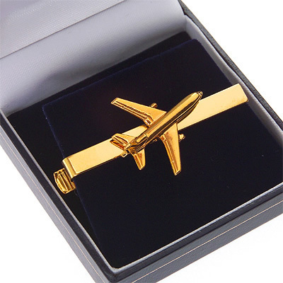 L10-11 Tristar Tie Bar / Clip Gold Plated