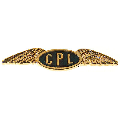 CPL Commercial Pilot's Wings Tie / Lapel Pin