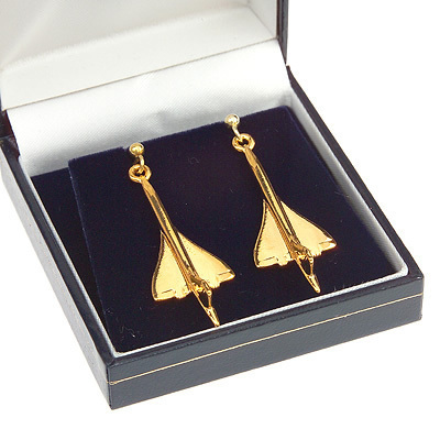 Concorde Earrings Gold Plated