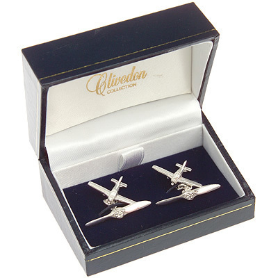 Piper Cherokee Cufflinks Solid Silver