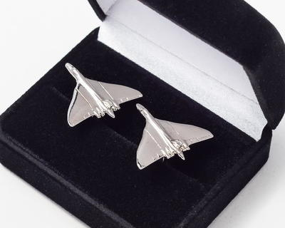 Vulcan Cufflinks Nickel Plated