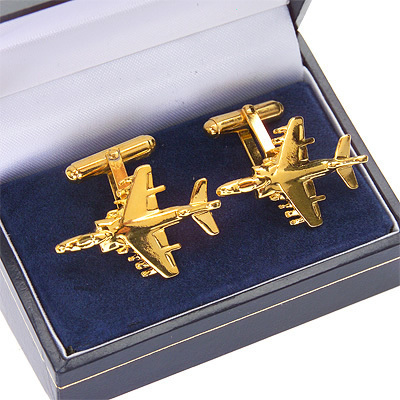 Harrier GR7 / AV8B Cufflinks Gold Plated
