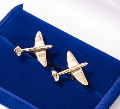 Spitfire Cufflinks Gold Plated
