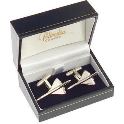 Concorde Cufflinks Nickel Plated