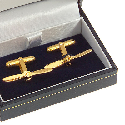 Propeller Cufflinks Gold Plated