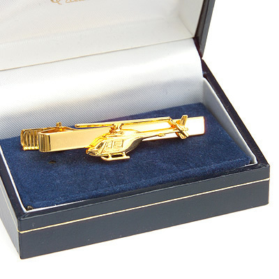 Robinson R22 Helicopter Tiebar / Clip Gold Plated