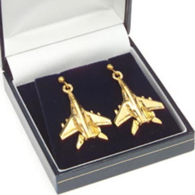 Mig 29 Earrings Gold Plated