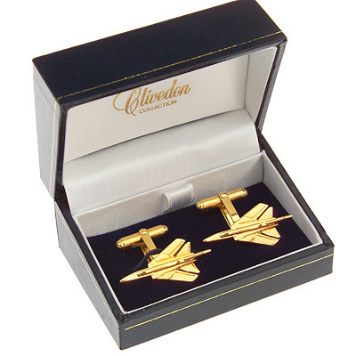 Tornado Cufflinks Gold Plated