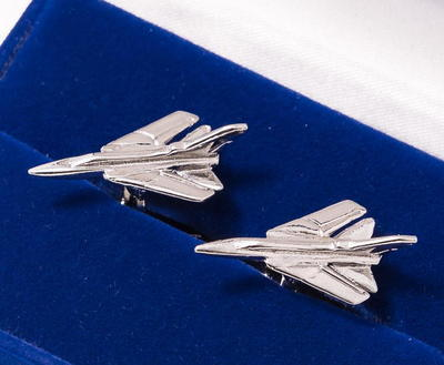 Tornado Cufflinks Nickel Plated