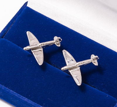 Spitfire Cufflinks Nickel Plated