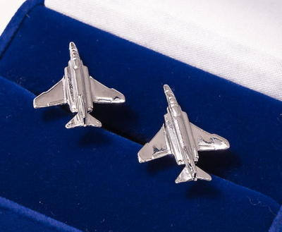 F4 Phantom II Cufflinks Nickel Plated