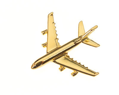 Airbus A380 Gold Plated Tie / Lapel Pin