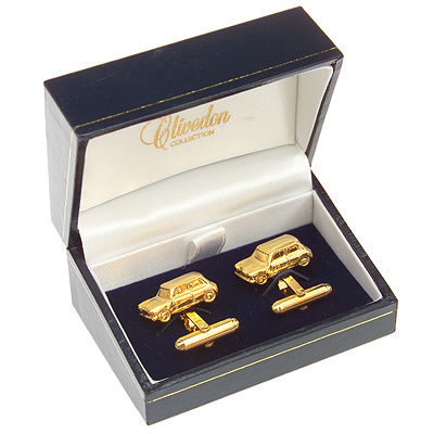 Mini Cufflinks Gold Plated