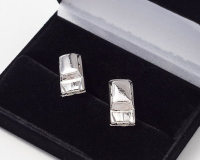 Mini Cufflinks Nickel Plated