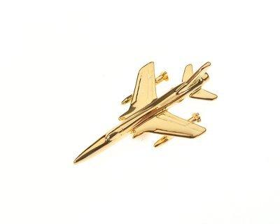 F105 Thunderchief Gold Plated Tie / Lapel Pin