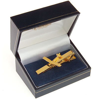 Tiger Moth Tie Bar / Clip Gold Plated