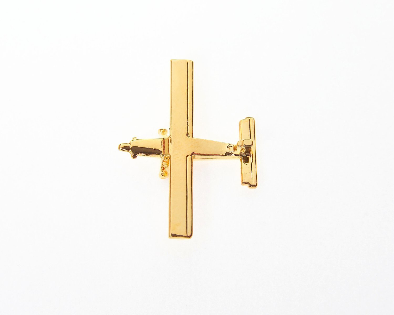 Pilatus Pc6 Gold Plated Tie / Lapel Pin
