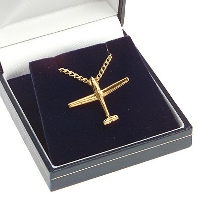 Glider Pendant Gold Plated