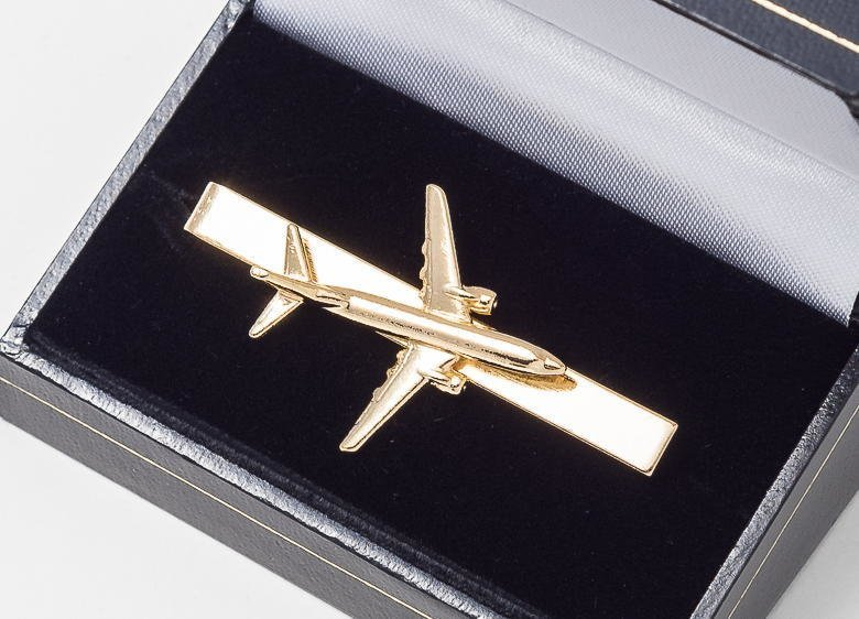 Boeing 737-800 Tiebar / Clip Gold Plated