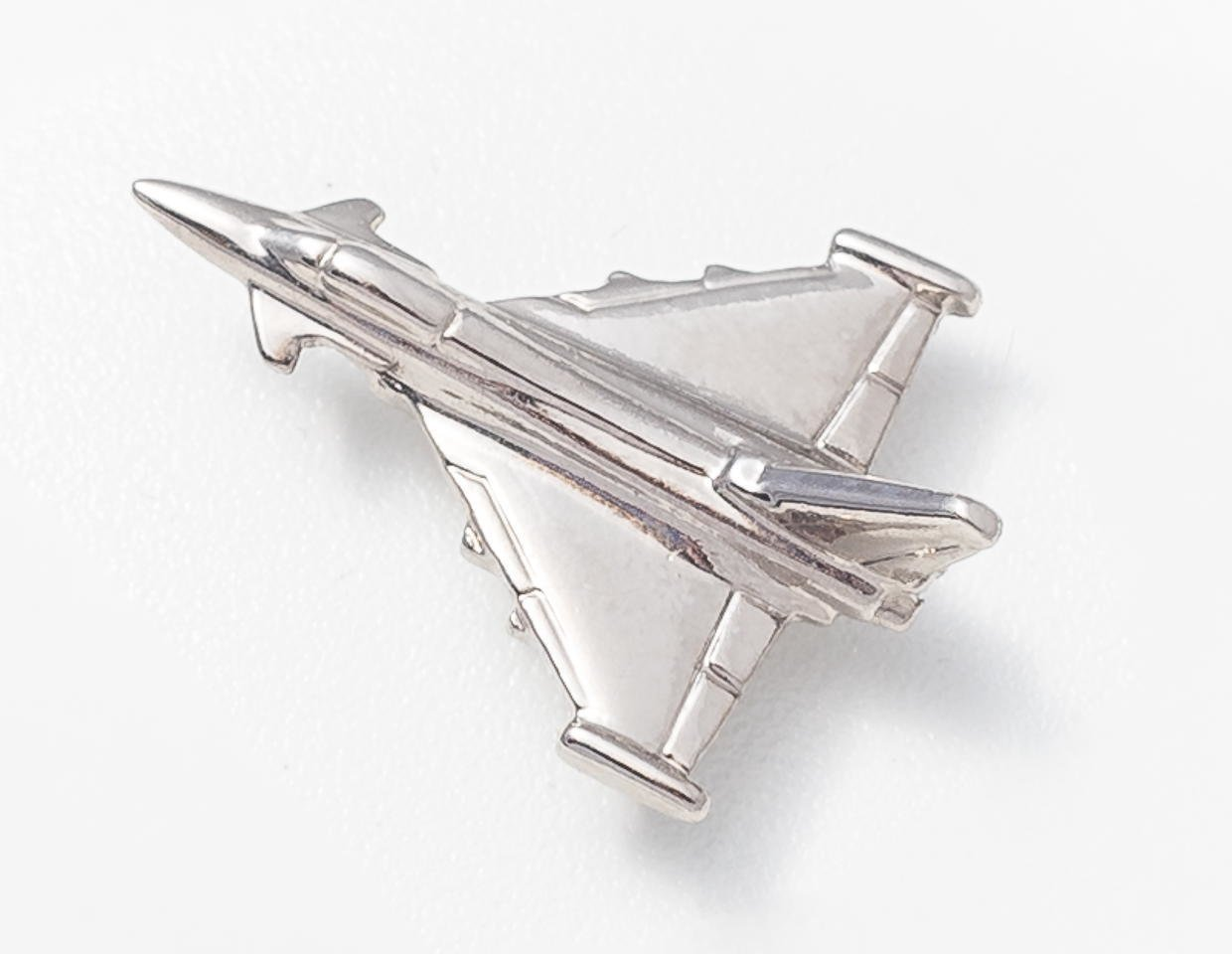 Eurofighter Typhoon Nickel Plated Tie / Lapel Pin