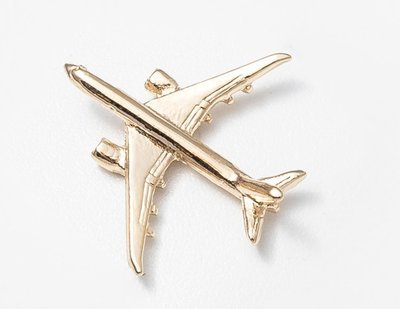 Boeing 787 Dreamliner Gold Plated Tie / Lapel Pin