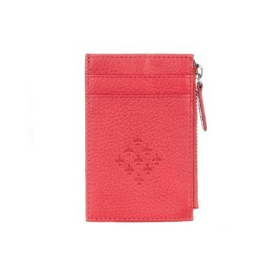 Red Leather Zipped Card Holder - Red Arrows