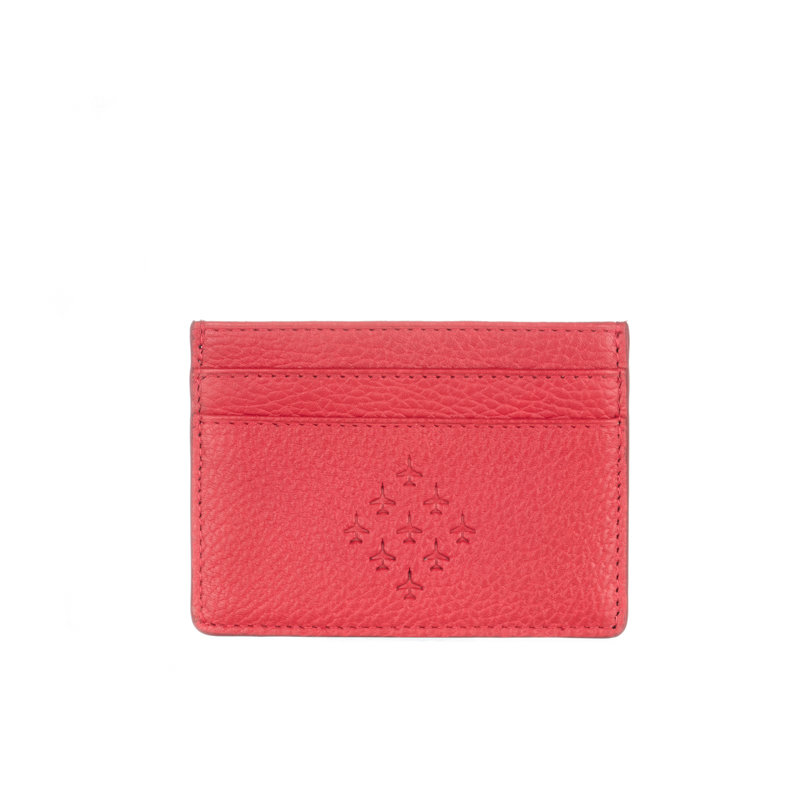 Red Leather Card Holder - Red Arrows